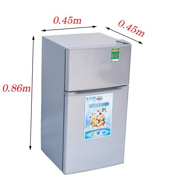 KÍCH THƯỚC TỦ LẠNH tu lanh mini 90 lit 2 cua sinni